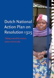 Dutch National Action Plan on Resolution 1325 - the United Nations