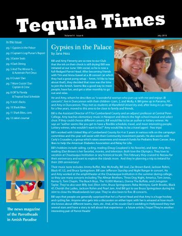 July 2010 Newsletter PDF - Parrot Heads in Amish Paradise