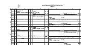 jadwal kuliah semester gasal tahun akademik 2012/2013 program ...