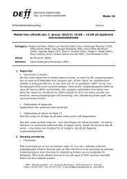Referat af møde 16 i INFO - DEFF