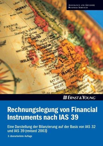 Rechnungslegung von Financial Instruments nach IAS 39 - Schweiz