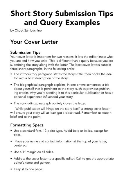 Short Story Submission Tips And Query Examples Writer S Digest