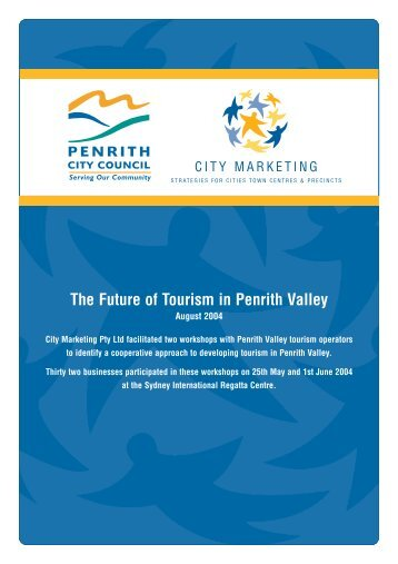 """to view """"The Future of Tourism in Penrith Valley"""", August 2004"""