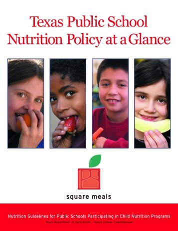 Texas Public School Nutrition Policy Quick-Guide - Vernon ...