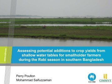 Assessing potential additions to crop yields from shallow water ...