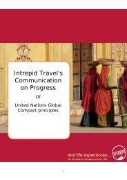 Intrepid Travel's Communication on Progress