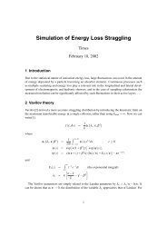Simulation of Energy Loss Straggling
