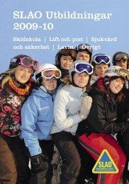 SLAO Utbildningar 2009-10