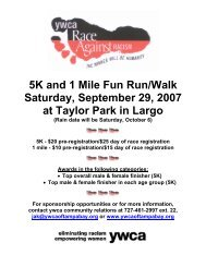 5K and 1 Mile Fun Run/Walk Saturday, September 29, 2007 at ...