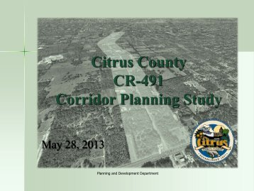 May 28, 2013 - Presentation to Board of County Commissioners