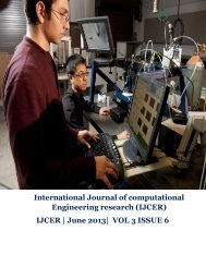 June 2013| VOL 3 ISSUE 6 - ijcer