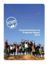 Communications on Progress Report 2012 - Intrepid Travel