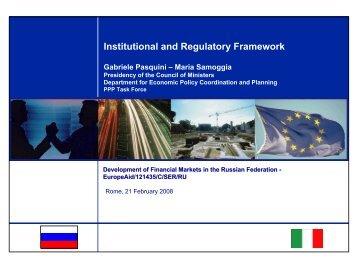 Institutional and Regulatory Framework - UTFP