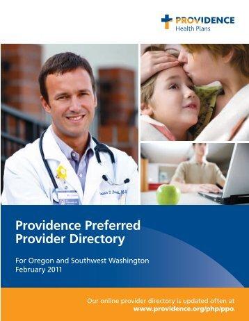 Providence Preferred Provider Directory - Providence Health Plan