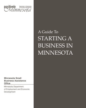A Guide To STARTING A BUSINESS IN ... - City of Lakeville