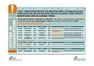 DAL 20 AL 28 AGOSTO e DAL 5 AL 13 SETTEMBRE 2012 - Trenitalia