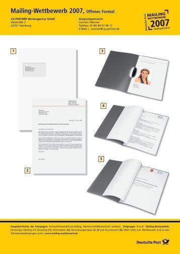 Mailing-Wettbewerb 2007, Offenes Format - Deutsche Post