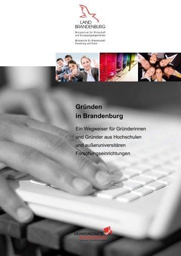Gründen in Brandenburg - Ministerium für Wirtschaft und ...