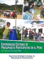 experiencias exitosas de presupuesto participativo en el peru