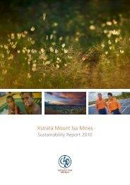 Mount Isa Mines Sustainability Report