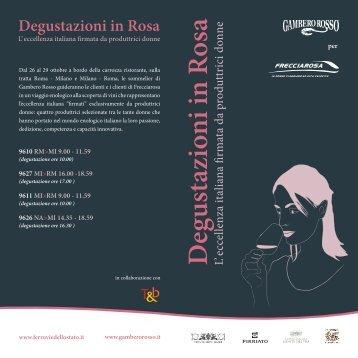 Le Degustazioni in Rosa
