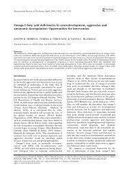 Omega-3 fatty acid deficiencies in ... - Tohtori Tolonen
