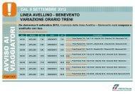 dal 9 settembre 2012 linea avellino - benevento ... - Trenitalia