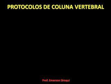 PROTOCOLOS DE COLUNA VERTEBRAL - Comunidades