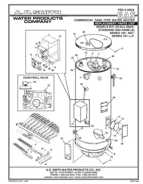 Bti 120 Ao Smith Water Heaters