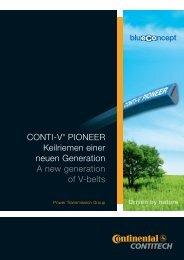 Экологичные приводные ремни ContiTech Conti-V-Pioneer
