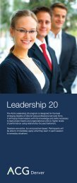 ACG Denver Leadership20 Program - Association for Corporate ...