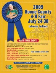 Daily fair schedule/special events flyer - Boone County Community ...