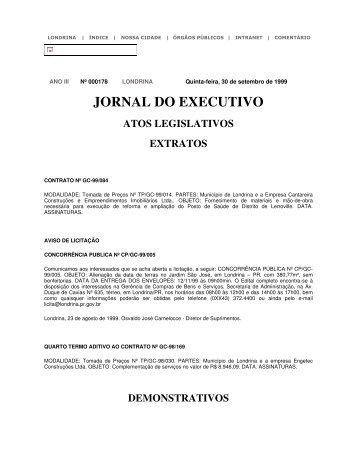 JORNAL DO EXECUTIVO - Governo do Paraná