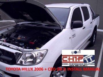 TOYOTA HILUX 2006 + CRD D4-D INSTALL MANUAL