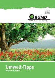 BUND Umwelt-Tipps Heilbronn/Heidelberg/Mannheim 2014
