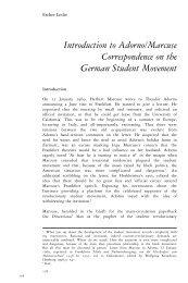 Introduction to Adorno/Marcuse Correspondence on ... - Comcast.net