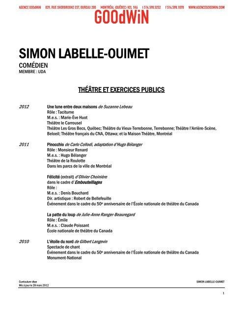 SIMON LABELLE-OUIMET - Agence Goodwin