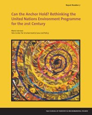 Can the Anchor Hold? - Yale University