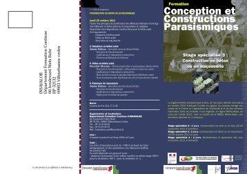 Conception et Constructions Parasismiques