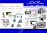 RFID coding software - MADA - Marx Datentechnik GmbH
