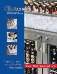 Bar Refrigeration - Glastender, Inc.