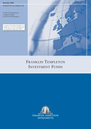 franklin templeton investment funds - Haussmann Patrimoine