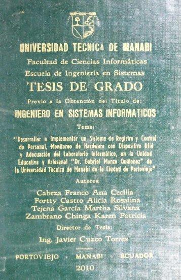 Tesis Cabeza Franco Ana.pdf - Repositorio UTM - Universidad ...