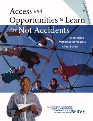 Access and Opportunities to Learn Are Not Accidents - SERVE