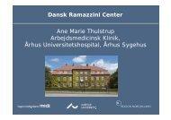 Ane Marie Thulstrup Arbejdsmedicinsk Klinik, Århus ...