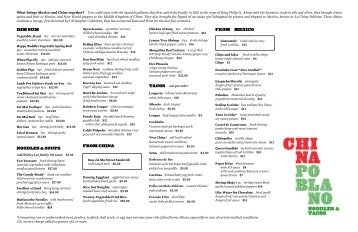 Menu in PDF - The Cosmopolitan Las Vegas