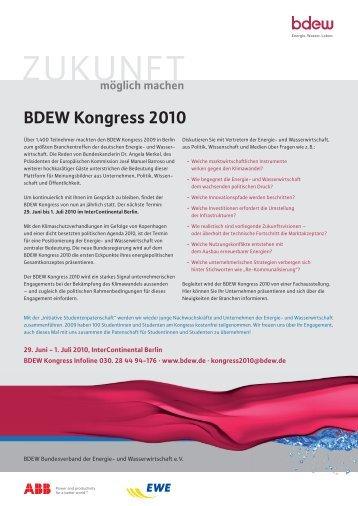 BDEW Kongress 2010 - TAM