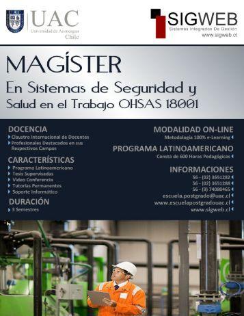 Magíster en Seguridad y Salud en el Trabajo OHSAS 18001 - Sigweb