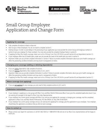 Anthem Employee Change Form Application