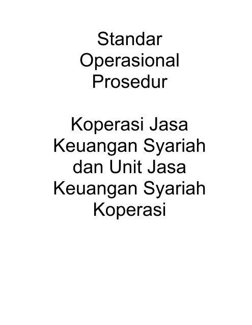 Standar Operasional Prosedur Koperasi Jasa Keuangan Smecda